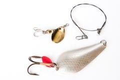 Attraits colorés de pêche Photos stock