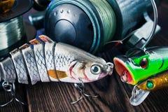 Attraits pour des poissons Photos stock