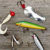 Attraits pour la pêche de brochet Photos libres de droits