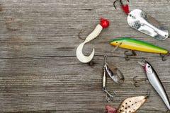 Attraits pour la pêche de brochet Photographie stock libre de droits