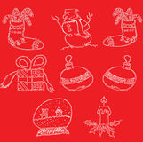 Attraktion för juldesignhand vektor illustrationer