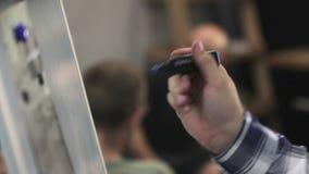 Attraktion på Flipchart två gem lager videofilmer