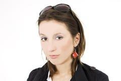 attraktiv affärskvinna royaltyfri foto