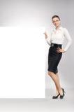attraktiv affärskvinna Royaltyfria Foton