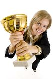attraktiv affärskvinnabild för vinkel wide Royaltyfri Foto