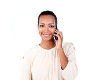 attraktiv affärskvinnatelefon Royaltyfri Bild