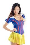 Attraktiv asiatisk flicka 20 år gammalt skott i studio Royaltyfria Bilder