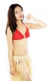 Attraktiv asiatisk flicka 20 år gammalt skott i studio Arkivfoton