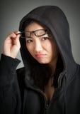Attraktiv asiatisk flicka 20 år gammalt skott i studio Royaltyfri Bild