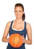 attraktiv basketflicka Royaltyfria Foton