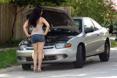attraktiv bil inaktiverad flicka 8 Arkivbilder