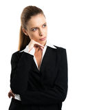 Attraktiv blond businesswoma arkivbilder