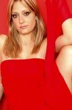 attraktiv blond modell Royaltyfria Bilder
