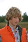attraktiv blond pojke Fotografering för Bildbyråer