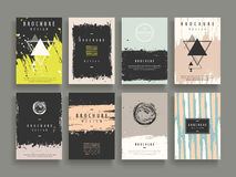 Attraktiv broschyrmall stock illustrationer