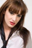 attraktiv brunett Royaltyfria Foton