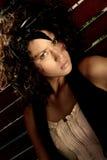 attraktiv brunett Fotografering för Bildbyråer
