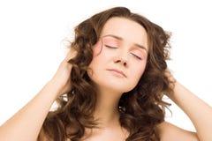 attraktiv brunettflicka Royaltyfria Foton