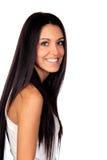Attraktiv brunettflicka Royaltyfri Bild