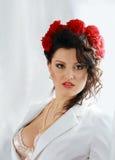 attraktiv brunettmodefor Royaltyfria Foton