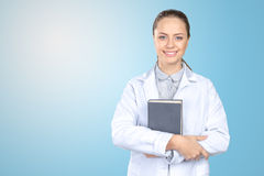 attraktiv doktorskvinnlig arkivfoton