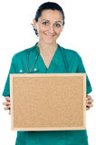 attraktiv doktorslady Arkivbild