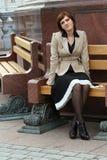 Attraktiv elegant kvinna Royaltyfri Foto