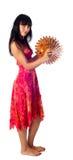 Attraktiv flicka med paraplyet Royaltyfri Bild