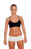 Attraktiv flicka med underkläderna Arkivfoto