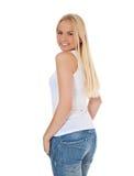 attraktiv flickascandinavian Arkivbilder