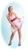 attraktiv flickautvikningsbrud Royaltyfri Foto