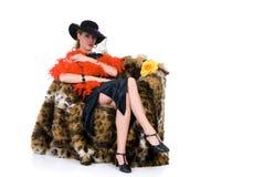 attraktiv glamourlady Royaltyfri Bild
