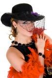 attraktiv glamourlady Arkivfoton