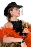 attraktiv glamourlady Royaltyfria Foton