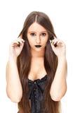 attraktiv gotisk kvinna Arkivbild