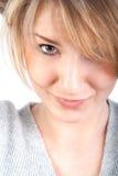 attraktiv härlig kvinna Arkivfoton