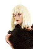 Attraktiv hon-manlig för bög makeup Arkivbilder