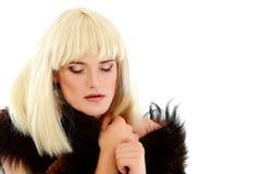 Attraktiv hon-manlig för bög makeup Arkivfoton