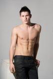 Attraktiv idrotts- man, naken torso Arkivfoton