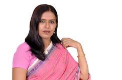 attraktiv indisk lady Arkivbild