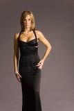 attraktiv klänningkvinna royaltyfria bilder