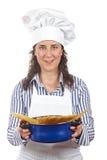 attraktiv kockkvinna Royaltyfria Bilder