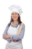 attraktiv kockkvinna Royaltyfri Foto