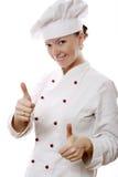 attraktiv kockkvinna fotografering för bildbyråer