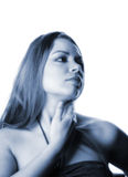 attraktiv kvinna 17 Arkivbild