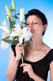 attraktiv kvinna Arkivbild