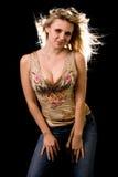 attraktiv kvinna Arkivbilder
