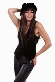 attraktiv kvinna för brunettfortieslatinamerikan Royaltyfria Foton