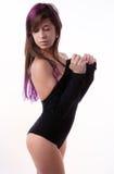 Attraktiv kvinna i body Royaltyfri Foto