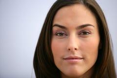 Attraktiv kvinnas framsida Fotografering för Bildbyråer